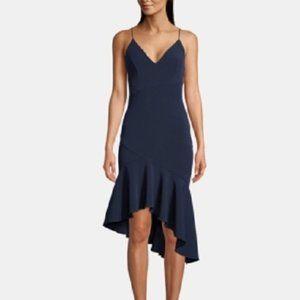 New Xcape Asymmetric Ruffle Bodycon Party Dress